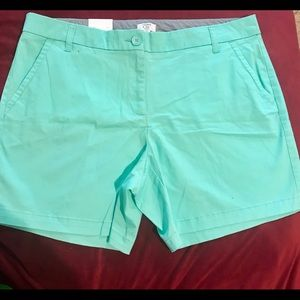 Crown & Ivy Light Green Shorts New With Tags